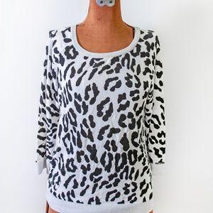 Animal Print 3/4 Length Sweater